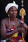 Benin, Mono County, Sahoue Doutou, the sword holder of Houngue Towakon Guedehoungue II, the king of fetishers