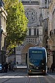 France, Bordeaux, Southwestern France, Aquitaine, rue Vital Carles, tramway