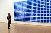 'Paris 4th district - Pompidou museum - National Museum of Modern Art ( MNAM) - Collection of contemporary art - '' Tabula '' ( 1974 ) work of Simon Hantaî'