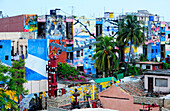 Street mural in Callejon de Hamel, a city block in Havana Centro, dedicated to the preservation and expression of Afro-Cuban culture