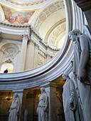 France, Paris, 7th, Hôtel des Invalides, tomb of Napoleon, ornamental statues