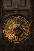 ASTRONOMICAL CLOCKFACE OLD TOWN HALL STAROMESTSKE NAMESTI PRAGUE CZECH REPUBLIC