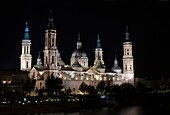BASILICA CATHEDRAL OF OUR LADY OF THE PILLAR RIVER EBRO ZARAGOZA ARAGON SPAIN