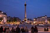 LORD NELSON COLUMN TRAFALGAR SQUARE LONDON ENGLAND UK