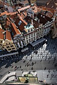 RED ROOFTOPS OLD TOWN SQUARE OLD TOWN STARE MESTO PRAGUE CZECH REPUBLIC