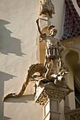 SAINT GEORGE AND DRAGON STATUE JOSEFOV JEWISH QUARTER PRAGUE CZECH REPUBLIC