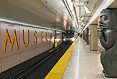 Museum Subway Station With Train Approaching, Toronto Ontario Canada