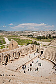 South Theatre, The Ancient City Of Jerash, Jordan, Middle East