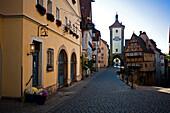 The historic city centre, Rothenburg ob der Tauber, Middle Franconia, Franken, Germany
