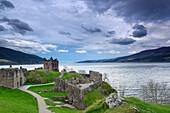 Urquhart Castle with Loch Ness, Scotland, Great Britain, United Kingdom