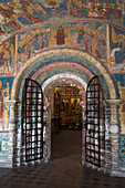Entrance to the Church of St. Elijah the Prophet, Yaroslavl, Russia, Europe