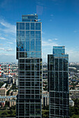 Moscow City International Business Center skyscapers seen from Federation Tower, Moscow, Russia, Europe