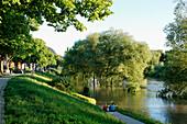 River Saale, Wenigenjenaer Shore, Jena, Thuringia, Germany