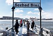 Sea Bridge in the Seaside Resort of Binz, Island of Ruegen, Baltic Sea, Mecklenburg-Western Pomerania, Germany