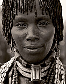 Hamar woman with traditional hairstyle, Lower Omo valley, Ethiopia