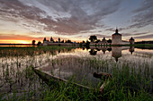 Sunset near the Kirillo-Belozersky monastery, Kirillov, Vologda region, Russia