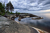 White Nights, Shore of lake Onega, The Republic of Karelia, Russia
