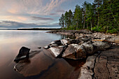 White Nights at lake Onega, The Republic of Karelia, Russia