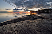 Weisse Nächte, Petroglyphen des östlichen Ufer des Sees Onega, Republik Karelien, Russland