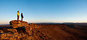 Two people admiring the view, The Great Wall of China, Flinders Ranges National Park, South Australia, Australia