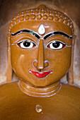 A Jain figure at the jainist temple of Jaisalmer Fort, Jaisalmer, Rajasthan, India