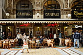 Bar inside Galleria Vittorio Emanuele II, Milan, Lombardy, Italy