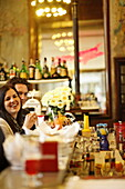 Guests inside a bar, Galleria Vittorio Emanuele II, Milan, Lombardy, Italy