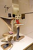Shoe store, Via Montenapoleone, Golden Triangle, Milan, Lombardy, Italy