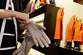 Sermoneta gloves Shop, Via della Spiga, Golden Triangle, Milan, Lombardy, Italy