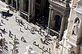 View to Piazza del Duomo, Milan, Lombardy, Italy
