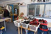 Fur seal product factory, Ilulissat (Jakobshavn), Disko Bay, Kitaa, Greenland