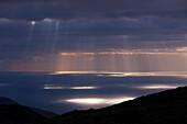 Sun Beams burst through Clouds, Tenerife, Canary Islands, Spain