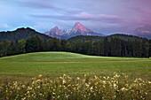 Thunder clouds above the Watzmann mountain, Berchtesgaden region, Berchtesgaden National Park, Upper Bavaria, Germany