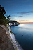 Chalk cliffs at dawn, Jasmund National Park, Ruegen island, Baltic Sea, Mecklenburg Western-Pomerania, Germany