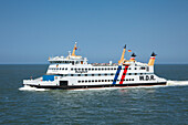 Ferry from Dagebuell to Amrum island, North Sea, North Friesland, Schleswig-Holstein, Germany