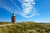 Alter Leuchtturm Rotes Kliff, bei Kampen, Insel Sylt, Nordsee, Nordfriesland, Schleswig-Holstein, Deutschland