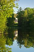 View to the temple of Venus, Woerlitz, UNESCO world heritage Garden Kingdom of Dessau-Woerlitz, Saxony-Anhalt, Germany