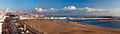 Panorama of the shoreline and the Straits of Gibraltar, Tangiers, Morocco