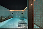Spa indoor pool, Riad Nashira, Marrakech, Morocco