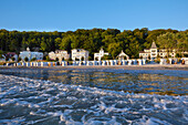 Beach promenade, Seaside resort of Binz, Island of Ruegen, Mecklenburg Western Pommerania, Germany