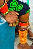 Traditional design, Kuna ethnic group village, San Blas archipelago, Kuna Yala Region, Panama, Central America, America