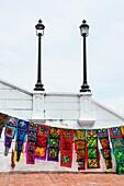 Kuna ethnic group designs, France Square, Panama City, Panama, Central America, America