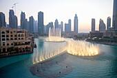 United Arab Emirates, U A E, UAE, Middle East, Dubai, Downtown Dubai, Burj Dubai, Dubai Mall, Burj Khalifa Lake, The Dubai Fountain, performance, The Residences West East Tower 1 2 3, skyscraper