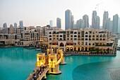 United Arab Emirates, U A E, UAE, Middle East, Dubai, Downtown Dubai, Burj Dubai, Dubai Mall, Burj Khalifa Lake, The Residences West East Tower 1 2 3, skyscraper