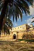 Modern Portella, built within the last Renaissance fortified enclosure Palma de Mallorca, dating back to 1785, palm, mallorca, Balearic Islands, Spain, Europe