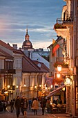 Vilnius  The Old Town  Pilies Street  Castle Street a favorite tourist street