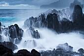 America, destination, Hawaii, island, lava, shore, volcano, wave, wild, T89-1628582, AGEFOTOSTOCK