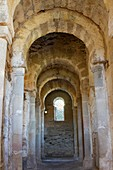 Inside of Santa Lucía del Trampal church VII century is one of the most outstanding visigothic chapel of Spain  Declarated BIC Cultural Interest Goods Alcuéscar, Cáceres province