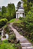 Pavilion in the Bergpark Wilhelmshoehe, Kassel, Hesse, Germany, Europe