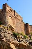 India, Rajasthan, Jodhpur, Mehrangarh fort.